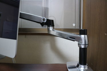 iMac(VESA非対応)にエルゴトロンのモニターアームを取り付ける