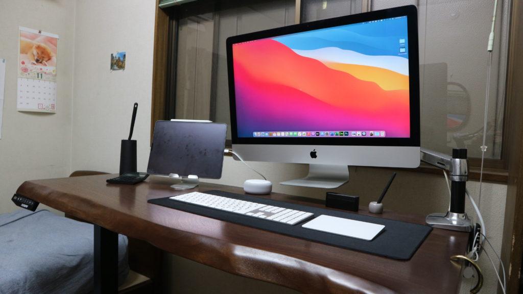 【番外編2】少し前までのデスクではiMacをモニターアームで浮かせてた