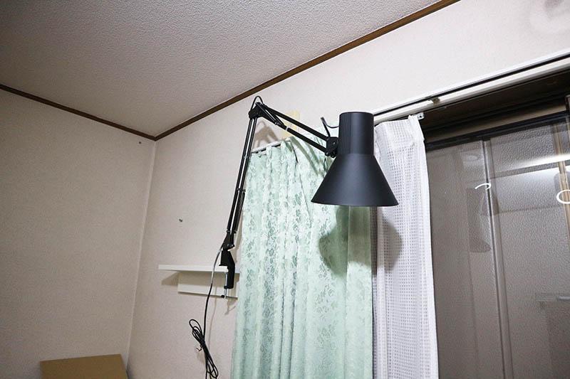 照明をクランプ設置
