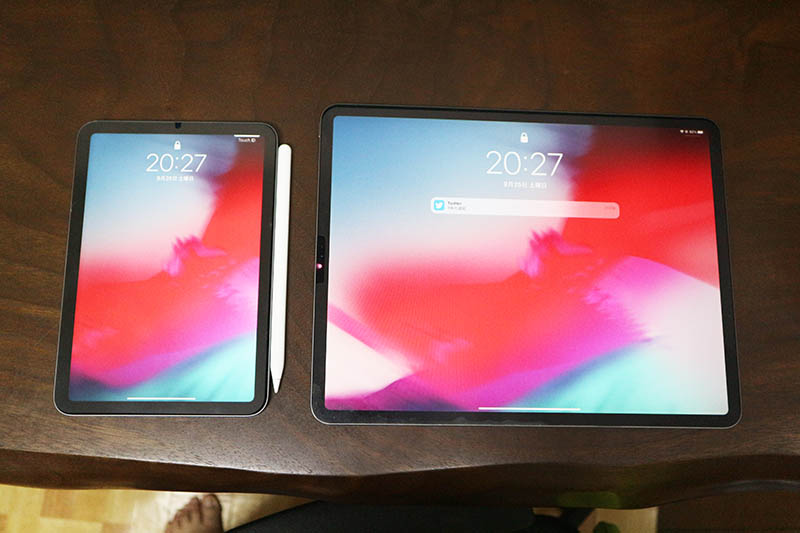 iPad Pro 12.9インチと比較